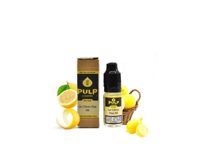 E-Liquide Citron Fizz Sel De Nicotine 20 Mg Pulp   Création Vap