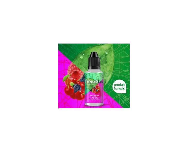 Arome Freeze Tea Mix Cherry's Ice Tea Made In Vape 30 Ml | Création Vap
