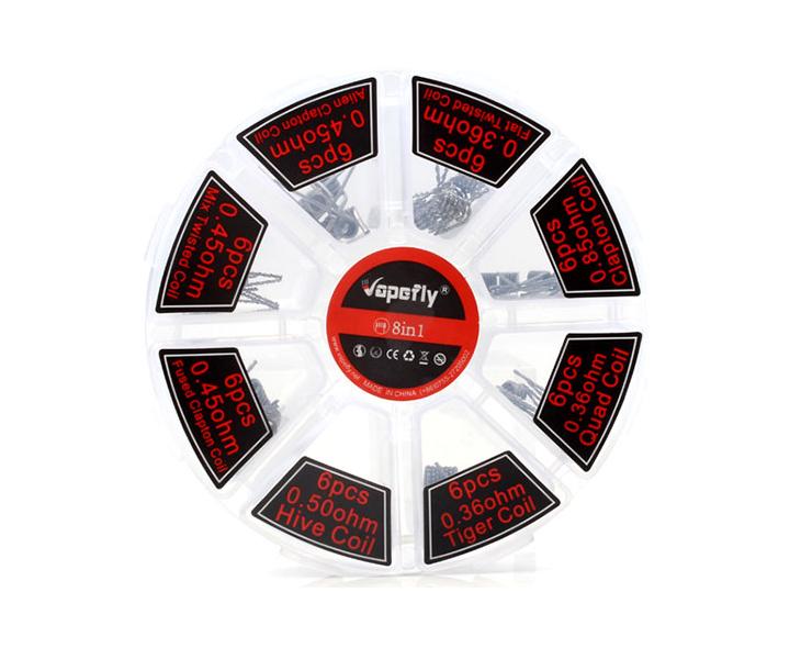 Boite Coils 48 Pièces Vapefly 8 En 1 | Création Vap