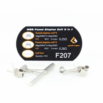 Coil N90 Fused Clapton F207 6 Tours Geek Vape | Création Vap