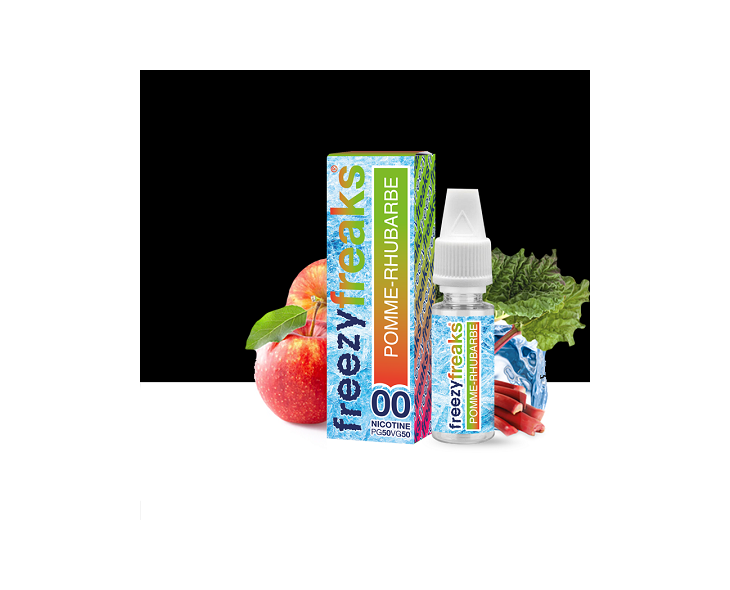 E-Liquide Pomme Rhubarbe Freezy Freaks   Création Vap