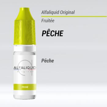 e-liquide fruité pêche Alfaliquid