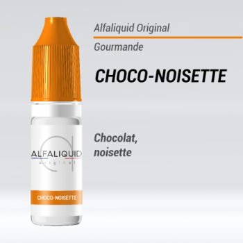 e-liquide gourmand choco-noisette Alfaliquid
