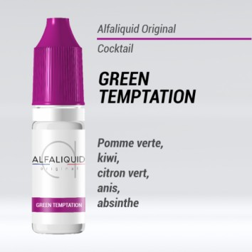 e liquide cocktail green temptation Alfaliquid
